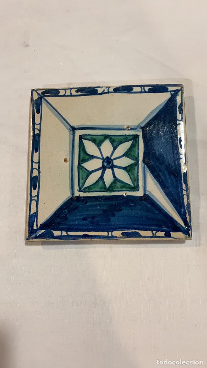 AZULEJO DE MUEL S.XVII (Antigüedades - Porcelanas y Cerámicas - Teruel)