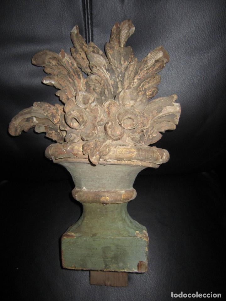 Antigüedades: ANTIGUO ADORNO TALLADO EN MADERA - Foto 3 - 204183678