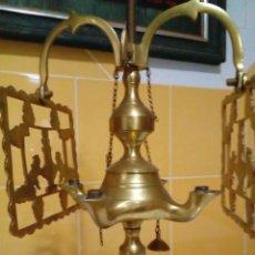 Antigüedades: LÁMPARA CANDELABRO ANTIGUA DE BRONCE DE CUATRO BRAZOS. Lote 204201598