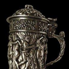 Antigüedades: JARRA DE PLATA, ORFEBRERÍA. Lote 204210331