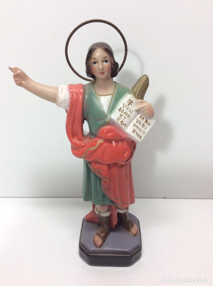 SAN PANCRACIO DE ESTUCO 18X9CM PEQUEÑA FALTA EN LA MANO (Antigüedades - Religiosas - Varios)