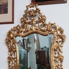 Antigüedades: ESPEJO BARROCO EN PAN DE ORO FINO. Lote 202401561