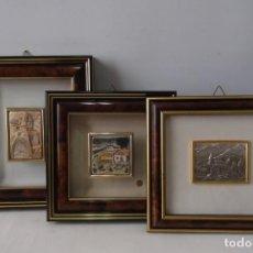 Antigüedades: ¡¡ PAISAJES DE PUEBLO - MINIATURAS, ZETA STUDIO D'ARTE. MADE IN ITALY. PLATA. !!. Lote 204249833