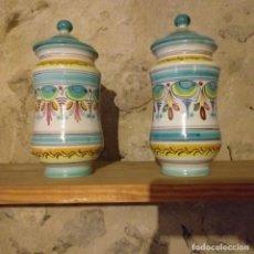 Antigüedades: PAREJA DE ALBARELOS. PUENTE DEL ARZOBISPO.. Lote 204266577