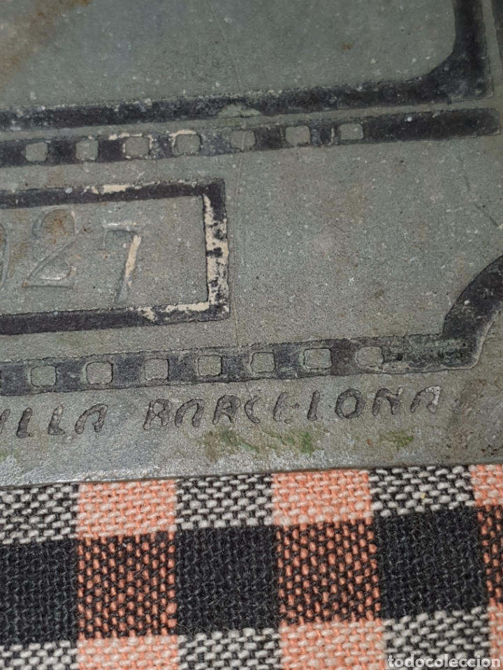 Antigüedades: Placa de cing para carruaje ayuntamiento pontons número 70 1 del 2 de 1927. - Foto 5 - 204272323