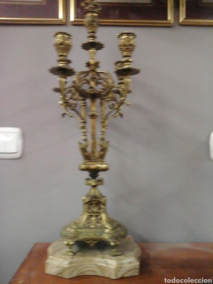 CANDELABRO BRONCE 5 LUCES (Antigüedades - Iluminación - Candelabros Antiguos)