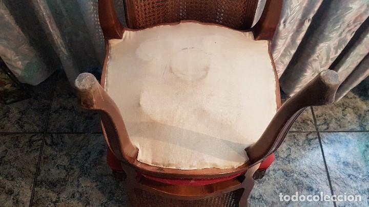 Antigüedades: PAREJA DE SILLAS ANTIGUAS LUIS XV DE EPOCA, MUY BIEN CONSERVADAS Y FUERTES. TAL CUAL SE VEN. - Foto 17 - 204309925