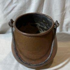 Antigüedades: CALDERA DE COBRE CON ASA. Lote 204312405