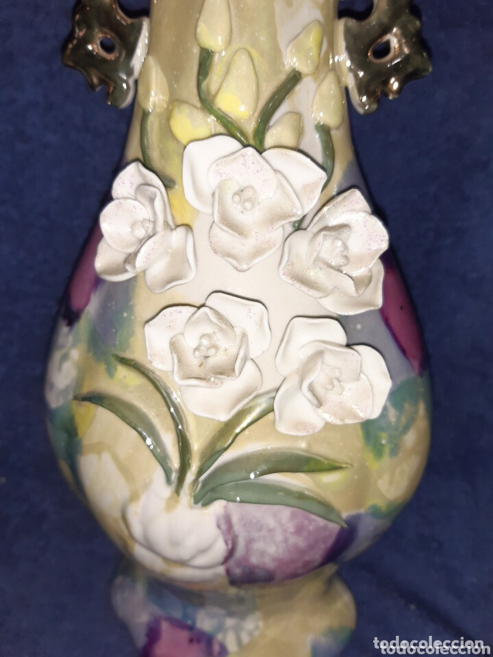 Antigüedades: Jarron artesanal de porcelana china - Foto 5 - 204321065