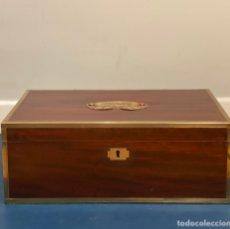 Antigüedades: ESCRITORIO DE BARCO ANTIGUO DE CAOBA. Lote 204341028