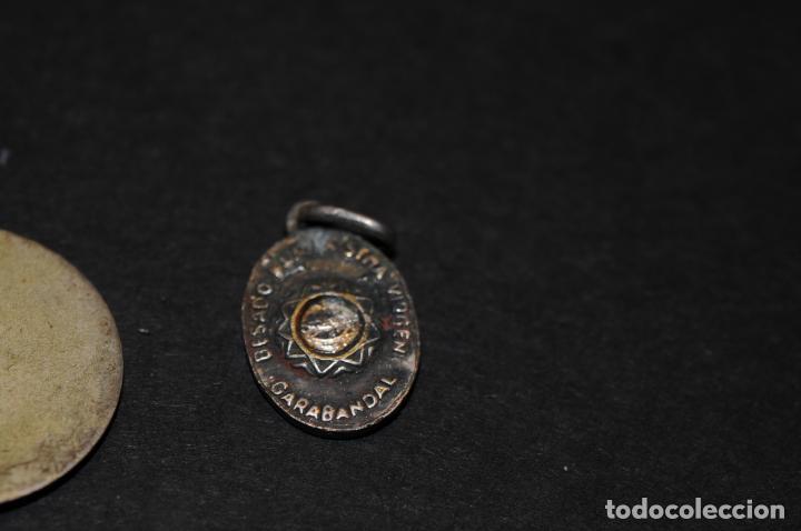 Antigüedades: LOTE DE MEDALLAS - DOS DE ELLAS RELICARIO - Foto 3 - 204345387