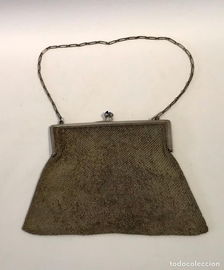 Antigüedades: Bolso de malla de plata Sterling 900, contrastada. Principios del siglo XX - Foto 2 - 204348205