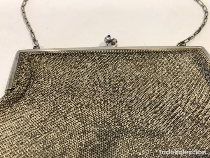 Antigüedades: Bolso de malla de plata Sterling 900, contrastada. Principios del siglo XX - Foto 3 - 204348205