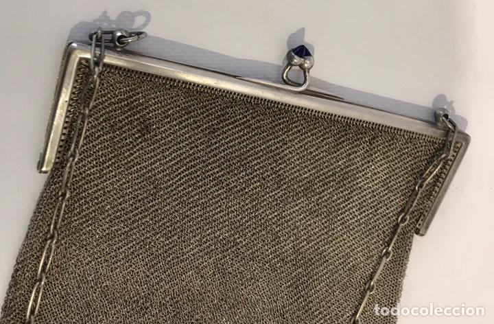 Antigüedades: Bolso de malla de plata Sterling 900, contrastada. Principios del siglo XX - Foto 5 - 204348205