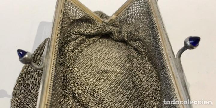 Antigüedades: Bolso de malla de plata Sterling 900, contrastada. Principios del siglo XX - Foto 7 - 204348205