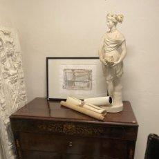 Antigüedades: ANTIGUA CÓMODA DE CAOBA CON MARQUETERÍA DE LIMONCILLO. ISABELINA ORIGINAL.MARAVILLOSA. Lote 202477017