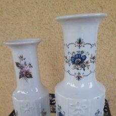 Antigüedades: PAREJA DE JARRONES FLORES. Lote 204364333