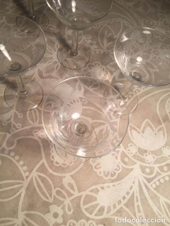 Antigüedades: Antiguas 6 copa / copas de cristal soplado a mano bonito tallado años 20-30 - Foto 4 - 204366010