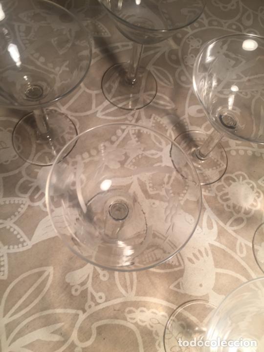 Antigüedades: Antiguas 6 copa / copas de cristal soplado a mano bonito tallado años 20-30 - Foto 5 - 204366010