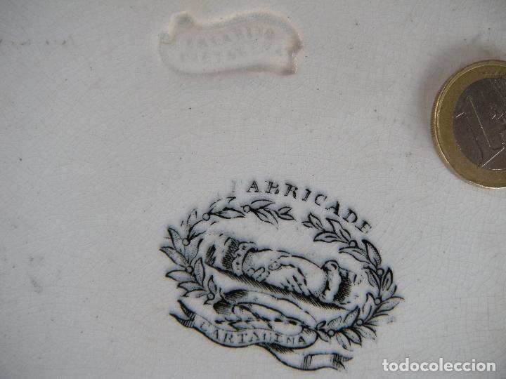 Antigüedades: FUENTE OCTOGONAL VALARINO CARTAGENA MURCIA - Foto 3 - 204373685