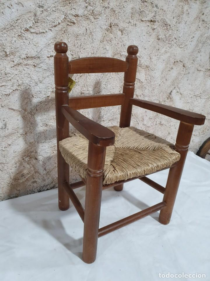 Antigüedades: SILLONCITO DE ENEA - Foto 2 - 204375002