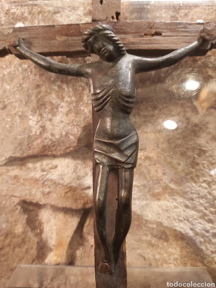 Antigüedades: ANTIGUO CRISTO EN BRONCE S. XIV-XV, PROBABLEMENTE ALEMÁN - Foto 2 - 204383870