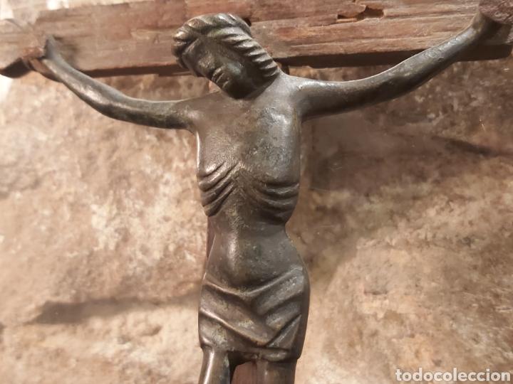 Antigüedades: ANTIGUO CRISTO EN BRONCE S. XIV-XV, PROBABLEMENTE ALEMÁN - Foto 3 - 204383870