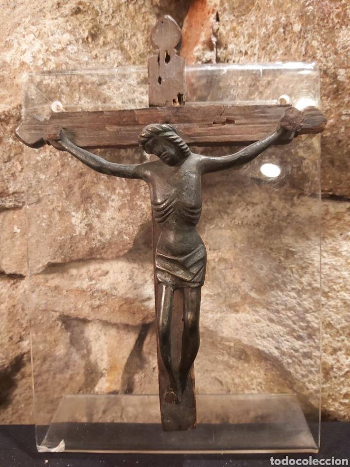 Antigüedades: ANTIGUO CRISTO EN BRONCE S. XIV-XV, PROBABLEMENTE ALEMÁN - Foto 5 - 204383870