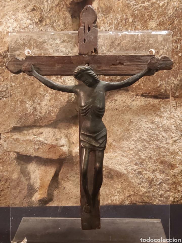 ANTIGUO CRISTO EN BRONCE S. XIV-XV, PROBABLEMENTE ALEMÁN (Antigüedades - Religiosas - Crucifijos Antiguos)