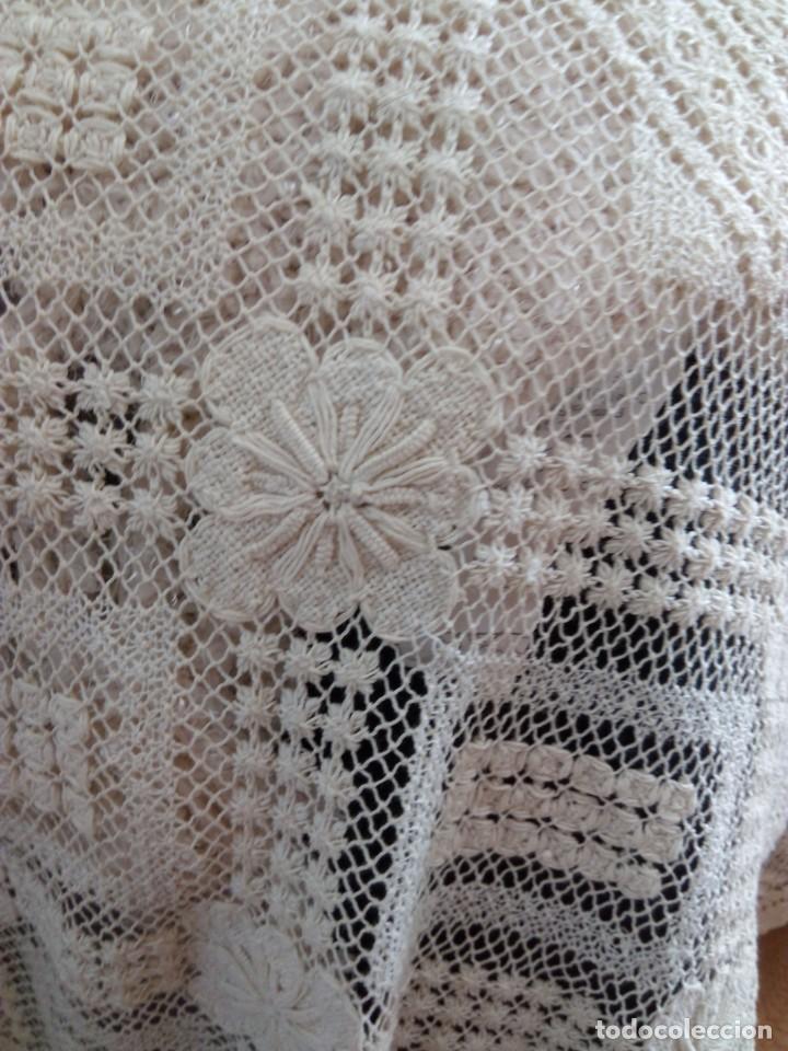 Antigüedades: mantel-colcha encaje de red - Foto 3 - 204388480