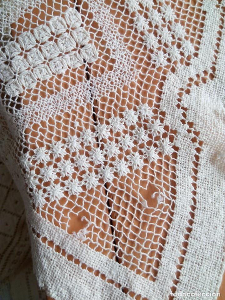 Antigüedades: mantel-colcha encaje de red - Foto 6 - 204388480