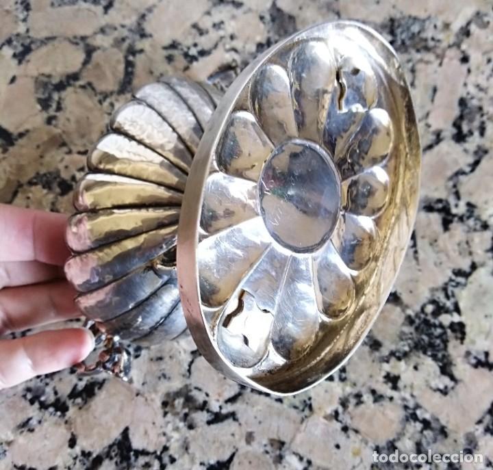 Antigüedades: Antigua salsera de plata contrastada estilo rococo - Foto 6 - 204398605