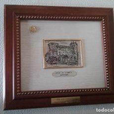 Antigüedades: CUADRO CASA DE CORREOS SANTANDER CINCELADO Y REPUJADO EN PLATA 925 HECHO A MANO. Lote 204401263
