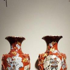 Antigüedades: JARRONES SATSUMA, SIGLO XIX. Lote 204413313
