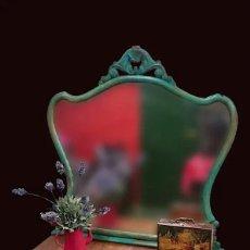 Antigüedades: ANTIGUA CÓMODA FLORENCE CON ESPEJO, RESTAURADA,PRECIOSA. VER FOTOS. Lote 204414820