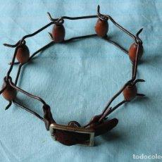 Antigüedades: ANTIGUO COLLAR DE PERRO. ANTIQUE DOG COLLAR. Lote 204418735