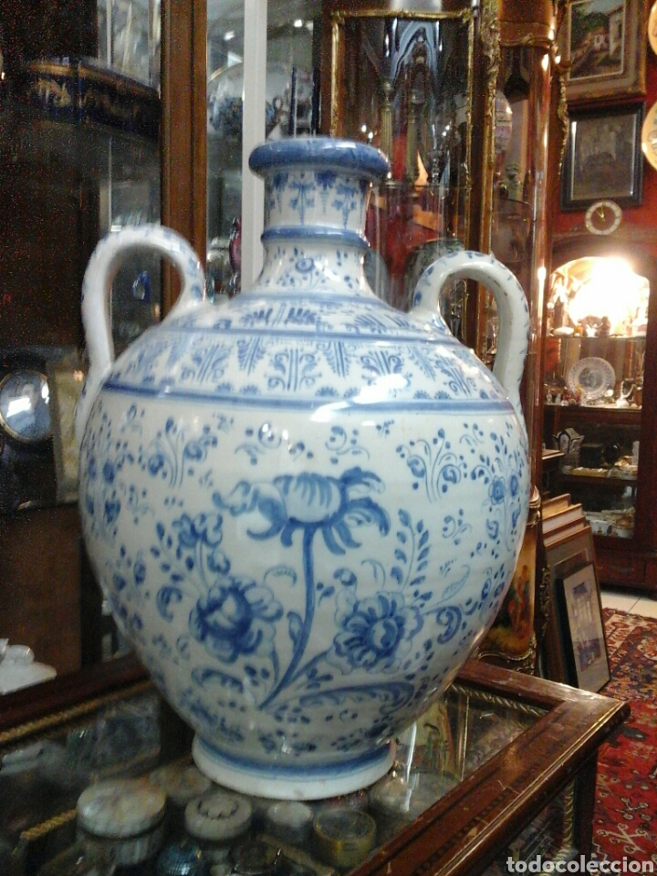 JARRON ASAS RUIZ DE LUNA (Antigüedades - Porcelanas y Cerámicas - Talavera)