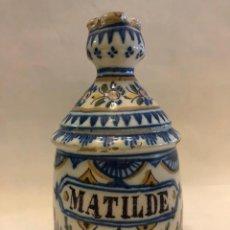 Antigüedades: JARRA DE TRIANA CON NOMBRE. Lote 204422510