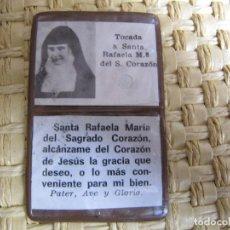 Antigüedades: RELICARIO. TOCADA A LA BEATA RAFAELA Mª DEL S. CORAZÓN.. Lote 204433055