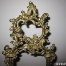 Antigüedades: ATRIL CABALLETE GRAN TAMAÑO 55 CM ALTURA BRONCE LABRADO. Lote 204438510
