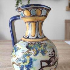 Antigüedades: ANTIGUA JARRA DE CERÁMICA DE TALAVERA. J. MONTEMAYOR (HENCHE). AÑO 1911. Lote 204438706