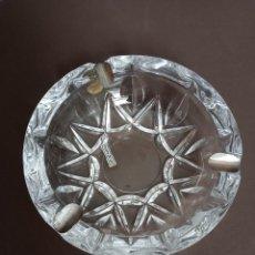 Antigüedades: CENICERO DE CRISTAL PLATA DE LEY ROYAL CRYSTAL ROCK.. Lote 204456765
