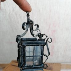Antigüedades: PEQUEÑO FAROL EN FORJA. Lote 204457288