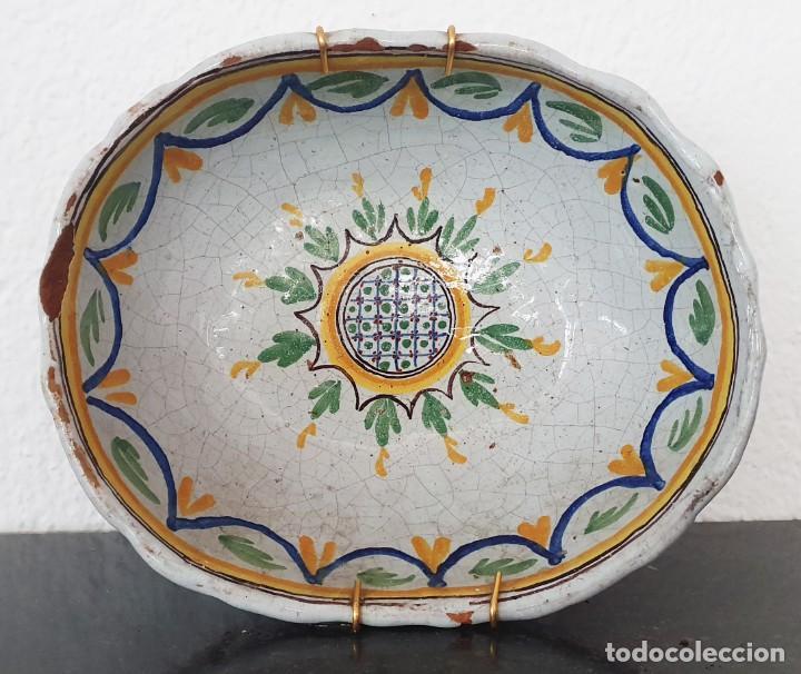 BONITO BOL DE CERAMICA DE ALCORA - SG XIX - 9,5 X 21 X 17,5 CM. (Antigüedades - Porcelanas y Cerámicas - Alcora)