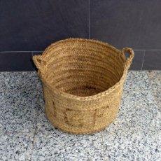 Antigüedades: ANTIGUO CAPAZO CAPACHO DE ESPARTO.. Lote 204472366