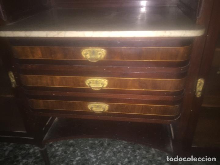 Antigüedades: Nouveau trinchador+aparador+mesa+recibidor +habitación nouveau - Foto 5 - 204484631