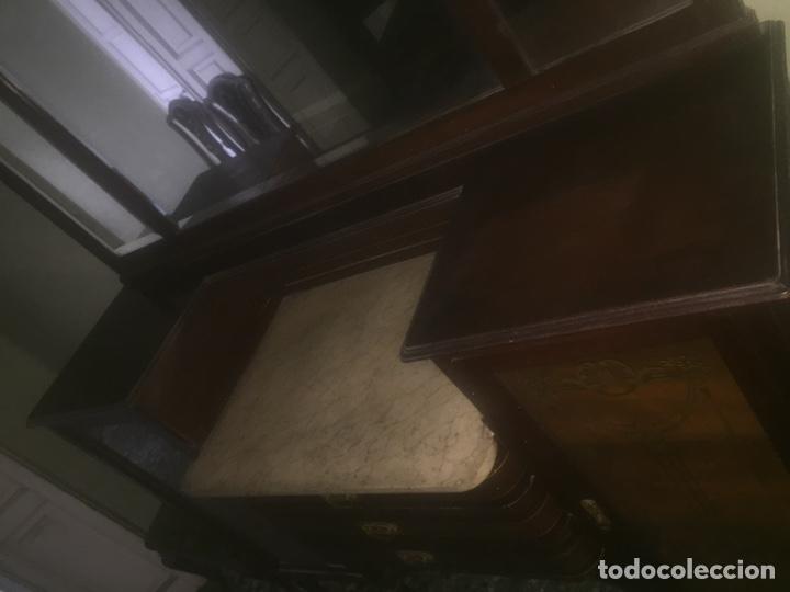 Antigüedades: Nouveau trinchador+aparador+mesa+recibidor +habitación nouveau - Foto 6 - 204484631