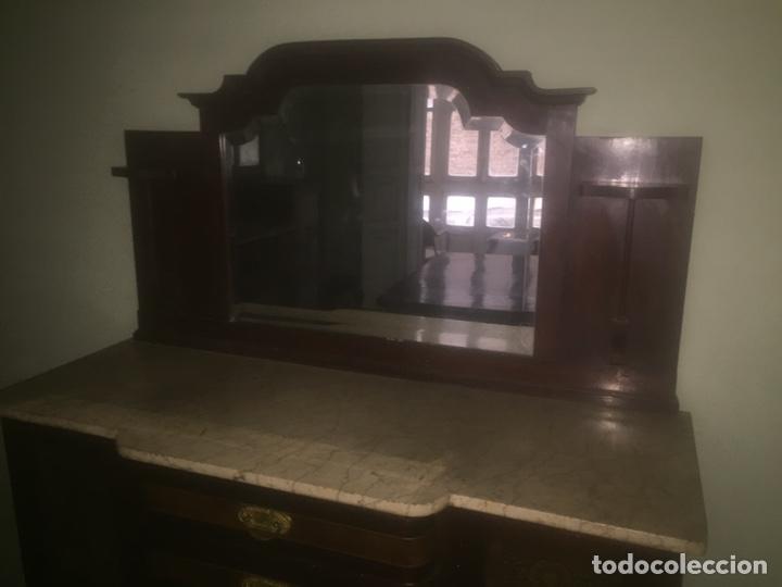 Antigüedades: Nouveau trinchador+aparador+mesa+recibidor +habitación nouveau - Foto 13 - 204484631