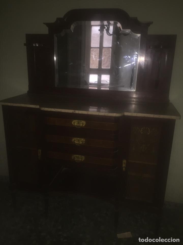 Antigüedades: Nouveau trinchador+aparador+mesa+recibidor +habitación nouveau - Foto 16 - 204484631