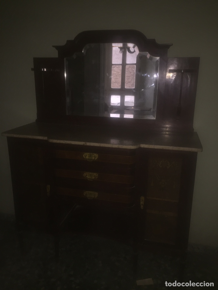 Antigüedades: Nouveau trinchador+aparador+mesa+recibidor +habitación nouveau - Foto 17 - 204484631
